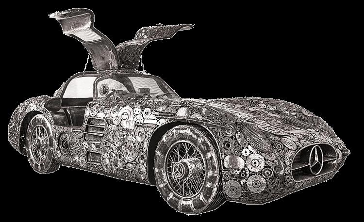 Galeria Figur Stalowych Samochód
